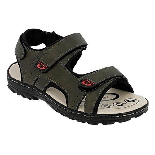 Herren Trekking-Sandale Pantoletten Sommer Schuhe Sandalen Outdoor Sandalette 650245 Khaki