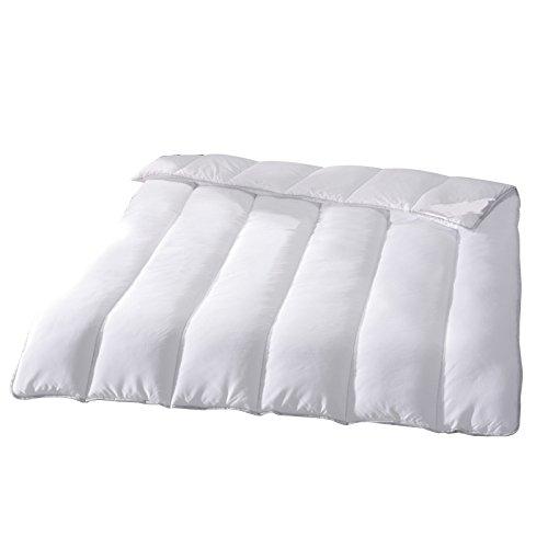 Hygiene Steppbett 135x200cm Sanitized Bettdecke Mikrofaser Weiß - Perfekter Schutz vor Milben und Bakterien dank Sanitized® Ausrüstung - Ideal für Allergiker