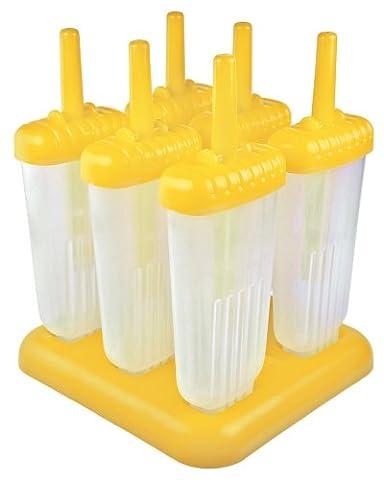 Tovolo 80-8003Y Groovy Eis-am-Stiel-Formen, gelb