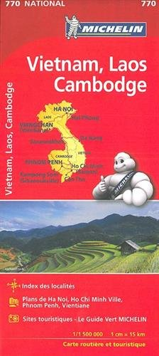 Mapa National VIETNAM, LAOS, CAMBODGE (Mapas National Michelin) por MICHELIN