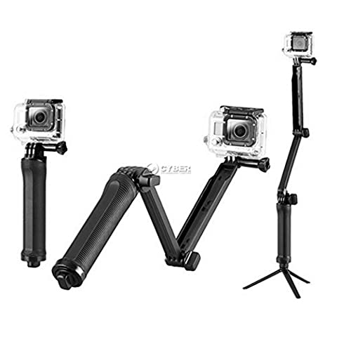 BoRui Selfie Stick Mount Tripod Hand Grip Arm Multi-functional Monopod pole for GoPro Hero 5/4/3+/3/2/1/Session / for Compact