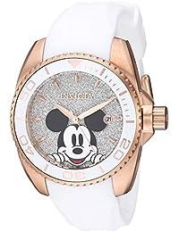 Invicta 27380 Disney Limited Edition Mickey Mouse Reloj para Mujer acero inoxidable Cuarzo Esfera plata