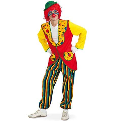 Coco Kostüm Clown - KarnevalsTeufel Anzug-Clown Coco 2tlg Kostüm Blazer Hose bunt Karneval Fasching (L)