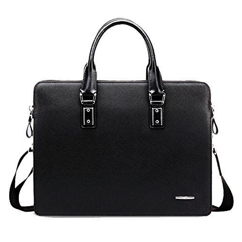 YAAGLE Echtes Leder Herren Rindleder Schultertasche Freizeit Handtasche Aktentasche Business Taschen-blue and red black