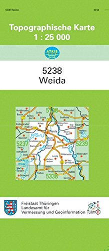 Preisvergleich Produktbild Weida: 5238 (Topographische Karten 1:25000 (TK 25) Thüringen (amtlich))