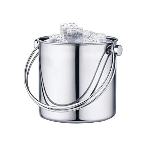 A-Lnice Bañera para bebidas: cubeta de hielo aislada de acero inoxidable de primera calidad, barrera de hielo incorporada, refrigerador de bebidas para fiestas para champán, vino y cerveza.Bebidas y c