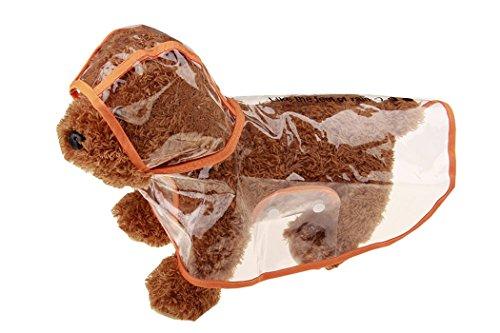 Regenmantel Hund, Legendog Kleine Hunde Transparent Regenjacke Regencape Regendecke Wasserdicht Hundekleidung Packable Pet Regen Kleidung für Kleiner Mittelgroße Große Hunde Welpen (XS-XL) (Regen-jacken Für Kleine Hunde)
