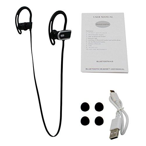 B5645ells In-Ear Wireless Sportliches Stereo Bluetooth 4.0-Kopfhörer-Headset Kopfhörer-Headset - Schwarz