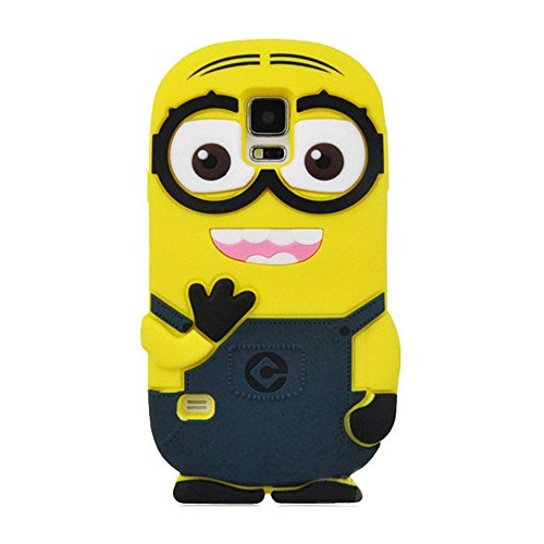 Double Eye Cute Despicable Me Minion Silicone Back Cover For Samsung Galaxy S5 I 9600  available at amazon for Rs.499
