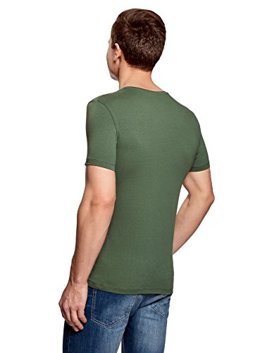 oodji Ultra Herren Tagless T-Shirt Basic (3er-Pack) Mehrfarbig (1903N)