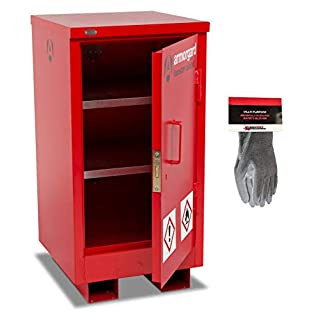 Armorgard FlamStor Flammable Liquids Storage Cabinet and Safety Gloves (FSC1)