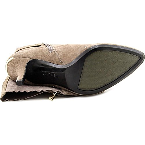 hoch Julietta Rund Calvin Taupe Calf Stiefel Knie Klein Mode Winter Wide Wildleder 5A88pqw