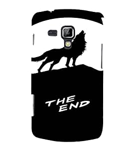 PrintVisa Howling Wolf Animal Design 3D Hard Polycarbonate Designer Back Case Cover for Samsung Galaxy S Duos S7562