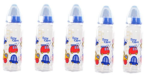 Tiny Care Diamond Baby Feeding Bottle(Pack Of 5,200 Ml)