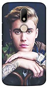 Crazy Beta Justin bieber the hollywood singer Printed mobile back cover case for Motorola Moto M
