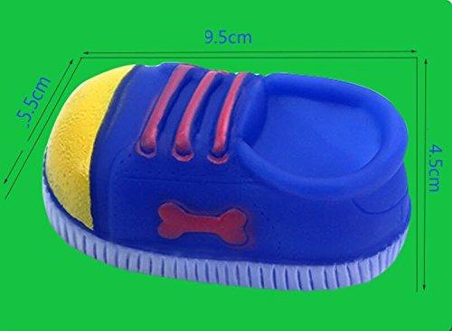 Annedenn Juguetes de Mascotas Zapatillas de Deporte en Forma de Pegamento Resistente a la mordedura Dientes molares Juguetes de Entrenamiento Pet Supplie (Randow)