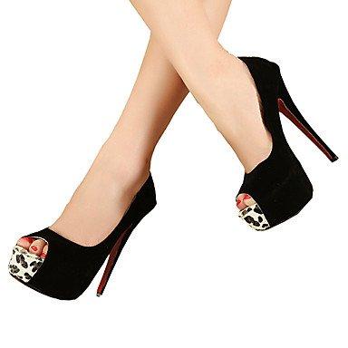Moda Donna Sandali Sexy donna tacchi Primavera / Autunno piattaforma nozze tessuto / Party & sera abito / Stiletto Heel Altri / pizzo nero / rosso altri Black