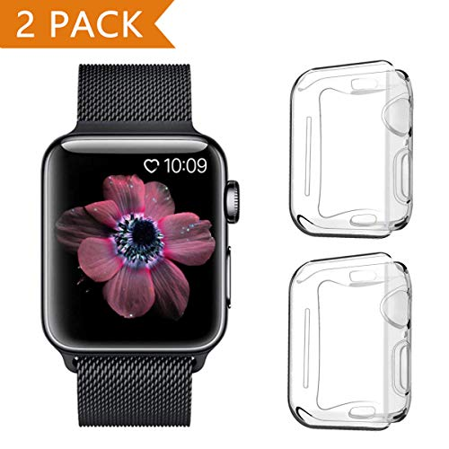 823392b0c5e PEYOU Funda Apple Watch Series 4 44mm (2 Unidades), Protector de Pantalla  iwatch
