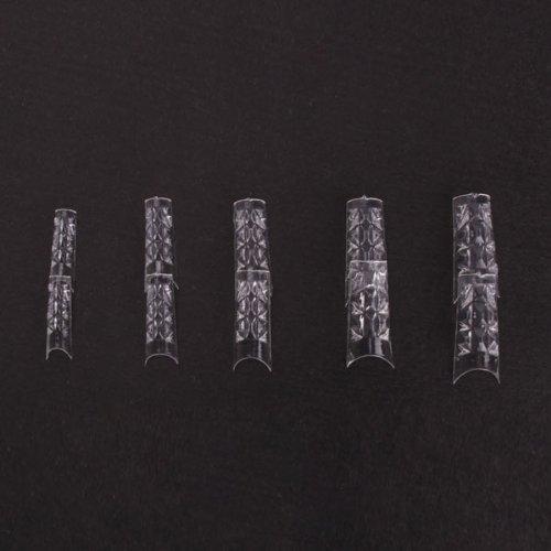 500 PCS pièces faux ongles acryliques mosaïque gel UV bouts french, transparents
