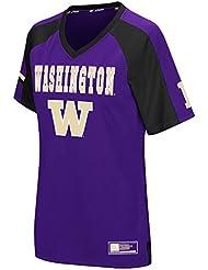 """Washington Huskies Women's NCAA """"Torch"""" Fashion Football Jersey Maillot"""