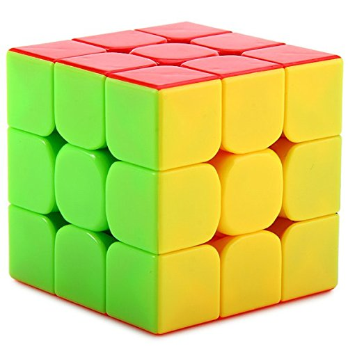 Completely stickerless 3X3X3 Speed Rubik Cube Puzzle (Train your brain)  available at amazon for Rs.199