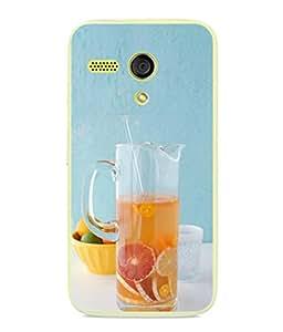 PrintVisa Designer Back Case Cover for Motorola Moto G :: Motorola Moto G (1st Gen) :: Motorola Moto G Dual (Colourful Fruit Juice Good Lifestyle Orange blue)