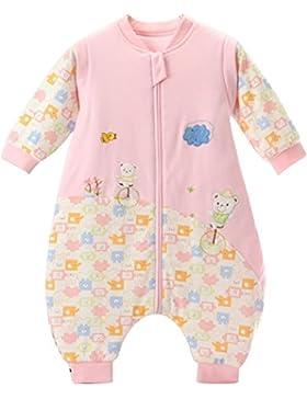 kinder Schlafsack Bär langarm Ärmel winter babySchlafsack mit Füßen,ganzjahres Baumwolle Junge Mädchen unisex...