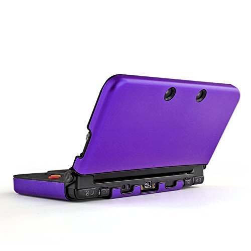 TNP New 3DS Case (Purple) - Plastic + Aluminium Full Body Protective Snap-on Hard Shell Skin Case Cover for New Nintendo 3DS 2015 by TNP Products