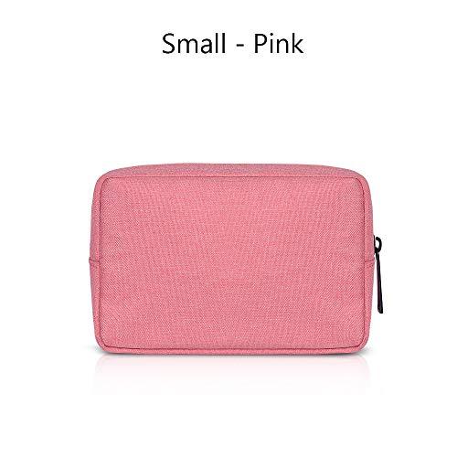 honglilai Tragbar Reisen USB Kabel Ohrhörer HDD Beutel zum Speichern Gadget -Geräte Pouch Cover für Make -up Digitales Zubehör(16 X 11cm,Pink) -