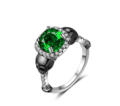ZXH Europäischen Und Amerikanischen Shantou Farbtrennung Ring Ebay Wünschen Amazon Explosion Stil Punk-Stil Ring Mode Frau Ring,8