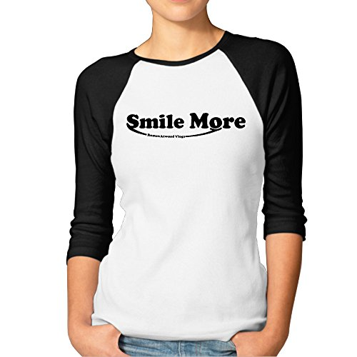gtstchd-womens-roman-atwood-smile-more-casual-3-4-length-sleeve-baseball-t-shirts-black
