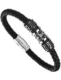 11a78740aff7 Lotus - LS2008-2 1   Bracelet Homme Cuir et Acier - Noir