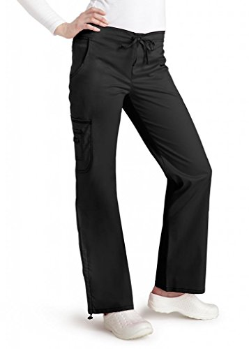 adar-pop-stretch-junior-fit-low-rise-boot-cut-bungee-leg-pants-3102-black-l