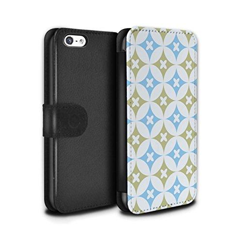 Stuff4 Coque/Etui/Housse Cuir PU Case/Cover pour Apple iPhone 5C / Multipack Design / Kaléidoscope Collection Bleu/marron