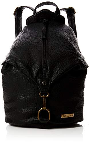 Tamaris Damen Gladys Rucksackhandtasche, Schwarz (Black), 36x18x28 cm