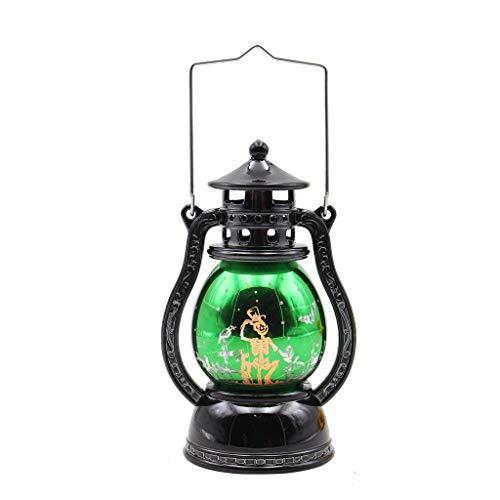 Maleya Halloween-Laterne führte dekorative Tischlampe der Kürbisgeistschläger-Sturmlaterne für Halloween führte Laternen-Weinlese-Hexe-Schloss geführtes helles Lampen-Partei-hängendes Dekor
