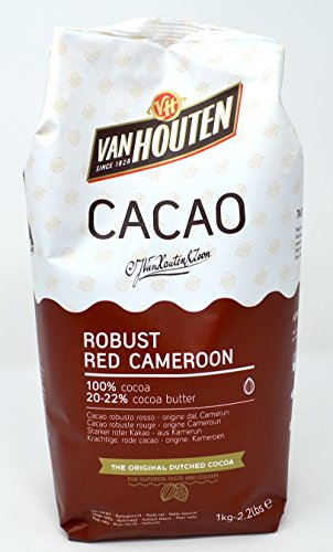 Van Houten - Robuste Rote Kamerun Kakaopulver (20-22% Kakaobutter) 1 kg