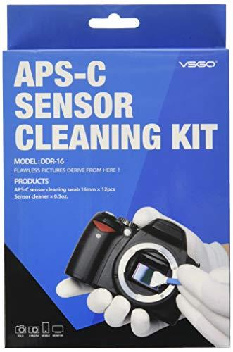 """UES Kamera APS-C Sensor Reinigungs Kit für 6 bis 12 Reinigungen, 12x Swab 16mm \""""staubfrei, vakuumverpackt\"""" 15ml Flüssigreiniger"""