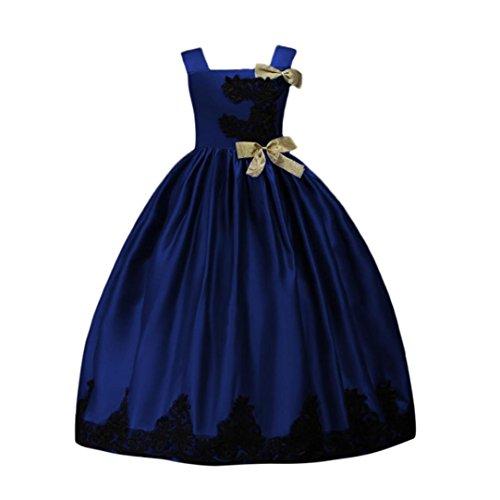 FeiliandaJJ Girls Dress, Kids Sleeveless Embroidery Free Belt Birthday Pageant Holiday Wedding Bridesmaid Princess Tutu Dresses For 5-9 Years