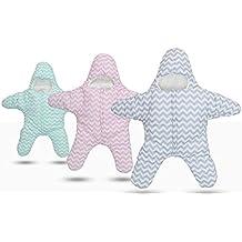 Finerolls Bebés Algodón Estrellas de Mar Saco de dormir Súper Blando Recién Nacido Otoño Invierno cochecitos cama Manta - Adecuado para bebé sobre 0-12M
