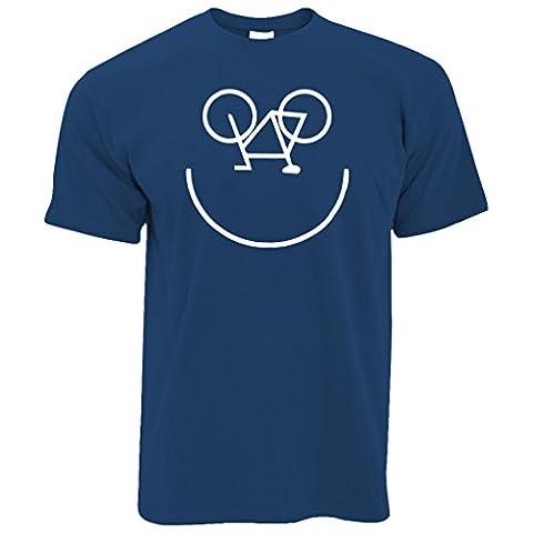Fahrrad-Smiley, Printed Designer Logo Neuheit Radfahrer Kunstsommer Herren T-Shirt