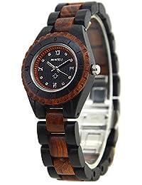 Bewell reloj para mujer cuarzo analógico Madera reloj de pulsera