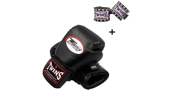 WOLIGEQ Gants de Boxe 8-14 oz Twins Kick Boxing Gants et Twins Main Wraps Bandage Hommes Enfants PU Cuir Muay Thai///MMA Formation Gants