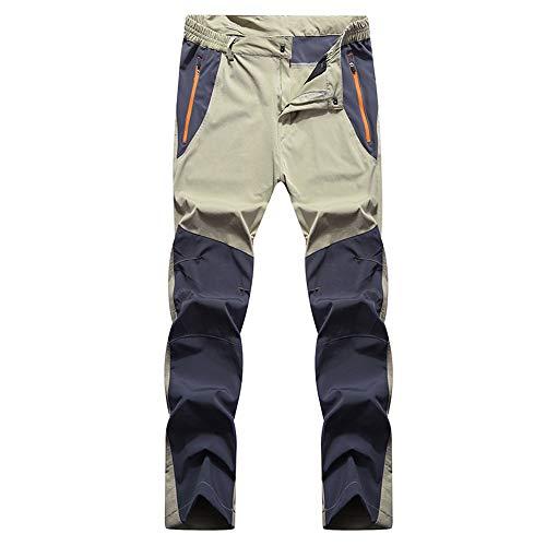 Saplnu Wanderhose Herren, Wanderhose Übergröße, Herren Outdoor Schnelltrocknend Leicht Wandern Angeln Reißverschluss Outfit Overall,A,42(US5XL) (Bike Hose Dirt 42)