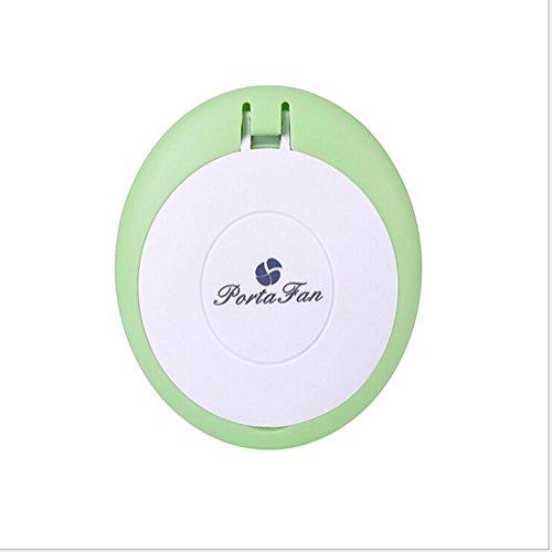CFZHANG Fan Gesicht Luftbefeuchter USB Aufladung Mini kreative Outdoor Palme Make-up Spiegel Mädchen Nachschub Instrument Geschenke , grass green (400mah)