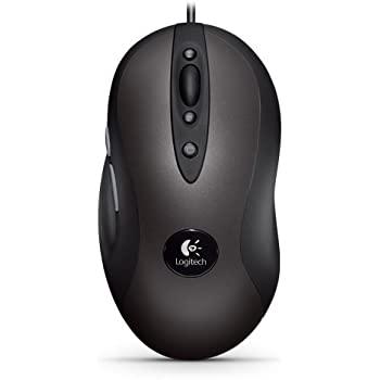 Logitech G400 - Ratón óptico para videojuegos de ordenador, color negro/ gris