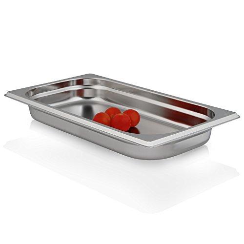 Greyfish GN-Behälter :: ungelocht :: für Gaggenau/Miele/Siemens Dampfgarer (Edelstahl/Spülmaschine geeignet, Gastronorm 1/3, B 32,5 x T 17,6 x H 4,0 cm)