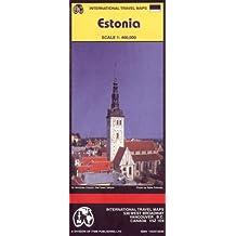 Carte routière : Estonie - Estonia (en anglais)