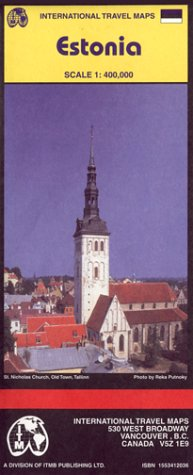 Carte routière : Estonie - Estonia (en anglais) par Cartes ITM