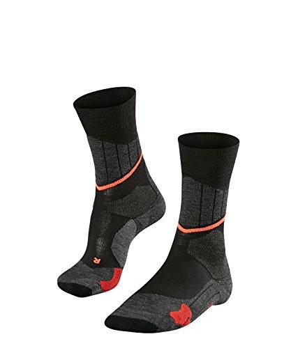 FALKE Damen Cross Country Skisocken SC1, Merinowollmischung, 1 Paar, Schwarz (Black-Mix 3010), Größe: 39-40
